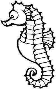 seahorse coloring pages water animals to color