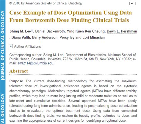 data clarification form template clinical trials jco publication exle of dose optimization using