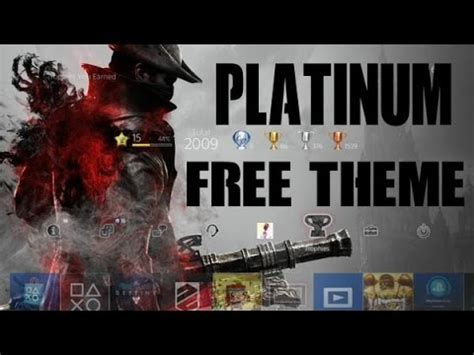 ps4 platinum themes free ps4 platinum theme for earning platinum trophy