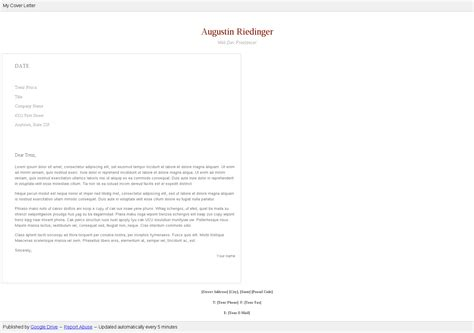 free cover letter template google docs rent receipt format
