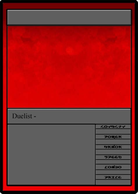 tcg card template sdl tcg duelist template by samuraiofthegrove on deviantart