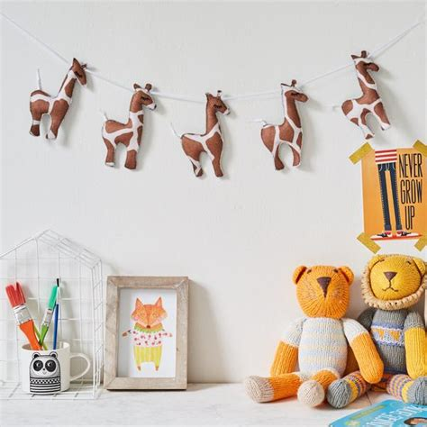 giraffe decorations for the home giraffe wall hanging garland bunting safari nursery