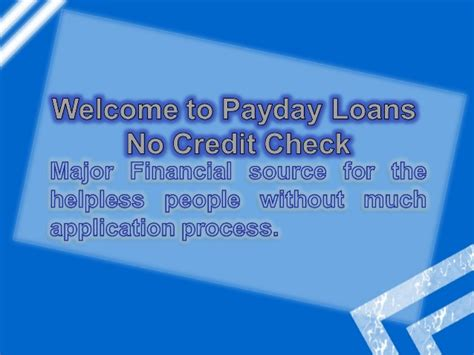 Payday Loans No Credit Check Affordable Finance To Meet
