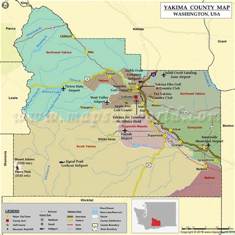 yakima map yakima county map my