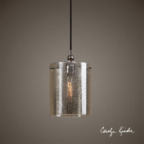 Mercury Glass Plated Nickel Hanging Pendant Ceiling Light Hanging Light