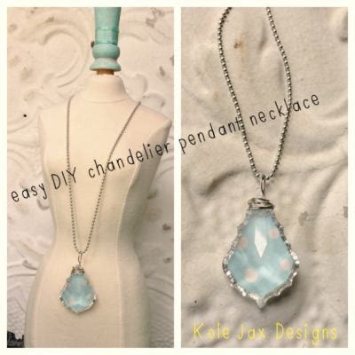 easy diy chandelier easy diy chandelier pendant necklace