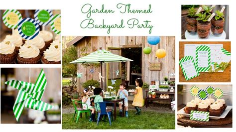 How To Throw A Backyard by Backyard Garden Birthday Rustic Baby Chic