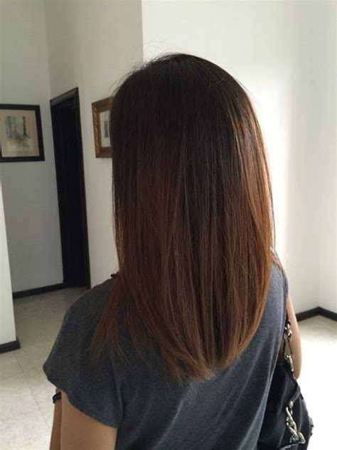 how to cut hair straight across in back best 25 medium straight hair ideas on pinterest medium