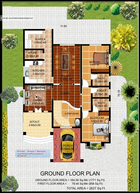 indian villa designs floor plan layout floor plans kerala villa plan and elevation 2627 sq feet