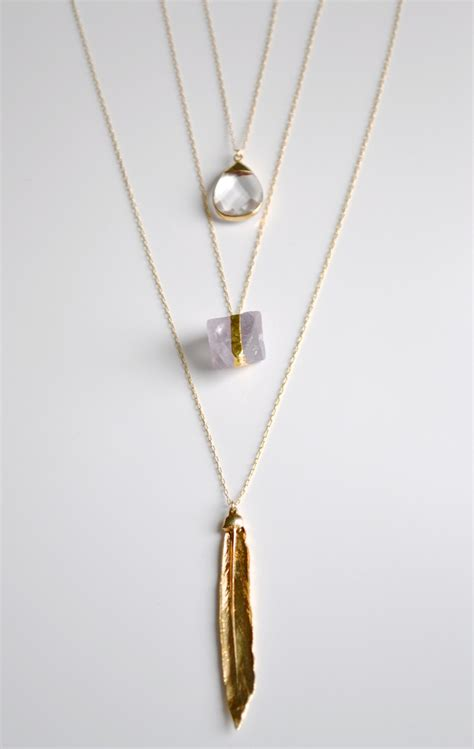 layered necklace gold layered necklace organic necklace