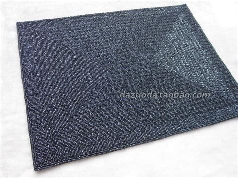 blue beaded placemats blue beaded placemat rectangle beaded placemat