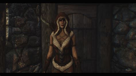 skyrim unpb huntress armor skyre compatible leatherbound huntress armor at skyrim