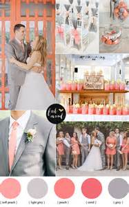 Beach Home Decor Ideas Peach Coral And Grey Wedding Palette Wedding Colors