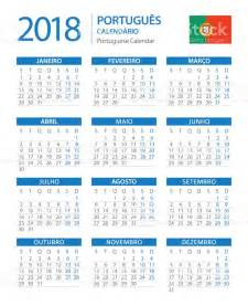Calendã 2016 Pdf Portugal Calendar 2018 Vertical Blue Portuguese Version Stock