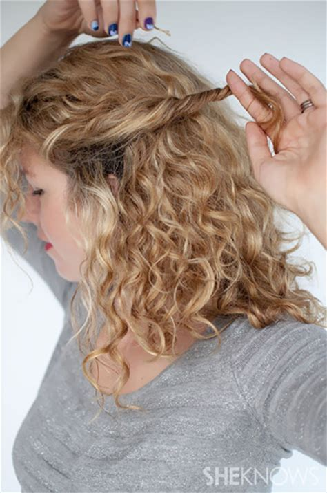 curly hairstyles using bobby pins how to create a curly twist