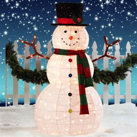 Lighted Outdoor Snowman Outdoor String Lights Snowman 24 Amazing Outdoor Lighted