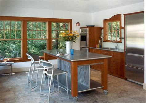 stainless steel kitchen island on wheels mobile kitchen islands ideas and inspirations