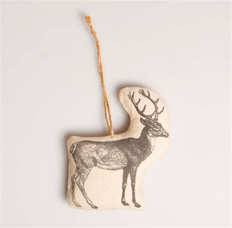 fabric christmas owl stag deer hanging tree decorations