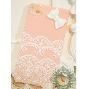 Iphone 4 4s Pastel Flower Lace Phone Cover Casing iphone 4s floral phone iphone 5s bow iphone 4 cover lace iphone 5 cover for