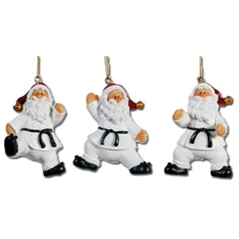 karate santa ornament set martial arts ornaments