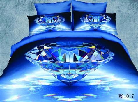 diamond all over sheets queen size from diamond supply co blue diamond printed new modle 6pcs 3d bedding sets full