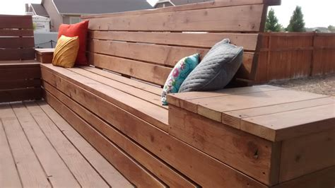 how to make a patio bench remodelaholic how to build space saving deck benches for