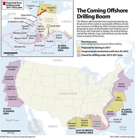Outer Continental Shelf Drilling by Map Obama S Offshore Drilling Plan Insideclimate News