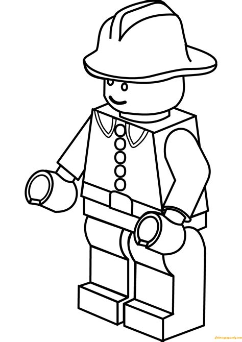 lego city firefighter coloring page  coloring pages