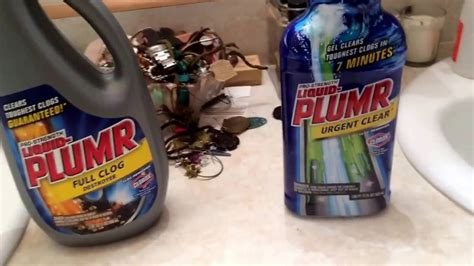 Liquid For Clogged Sink by Sink Drain Clog Remover Comparison Liquid Plumr Clog