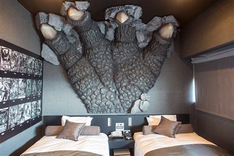 godzilla themed hotel japan tokyo s godzilla hotel offers rooms with a view of a