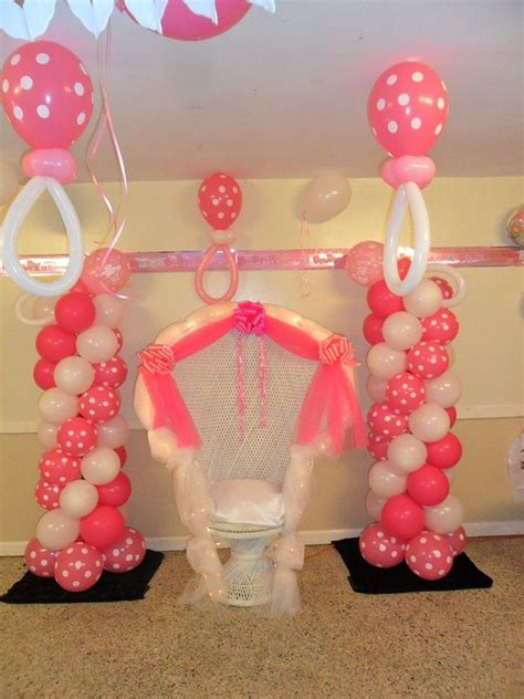 Balloon Tower For Baby Shower pin by on balloons