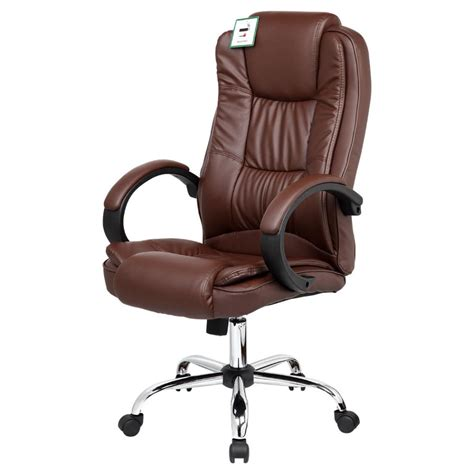 Brown Desk Chair by Santana Brown High Back Executive Office Chair Leather