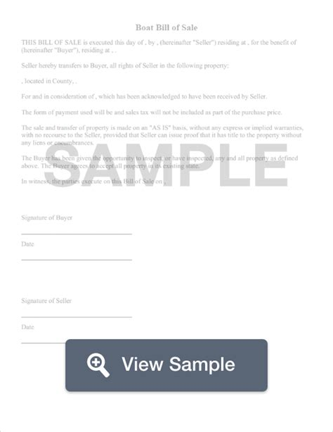 boat bill of sale images free boat bill of sale form pdf word sles formswift