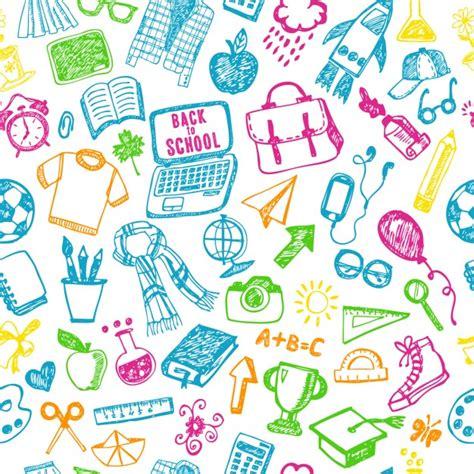 pattern design school back to school pattern vector free download