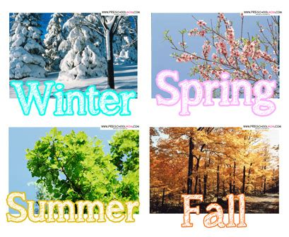 season for seasons preschool printables