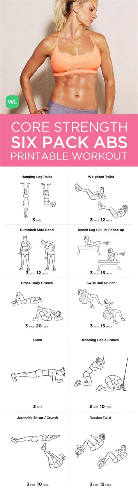 six pack abs strength at home workout pack for