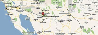 where is nogales arizona on a map nogales arizona map