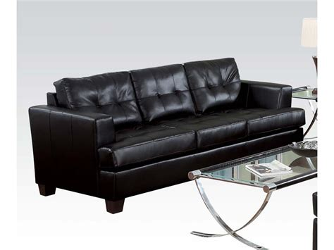 black bonded leather sofa black bonded leather sofa casa 2927 grey and black bonded