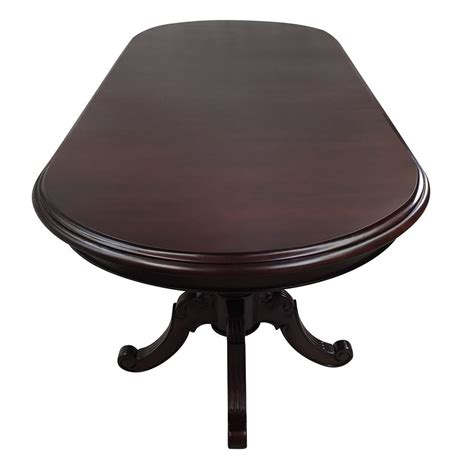 solid mahogany wood dining table 3m pedestal oval antique