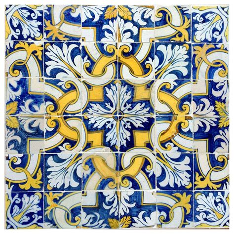 Kitchen Design Workshop 17th century portuguese tile pattern at 1stdibs