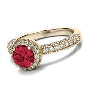 Ruby ring ruby rings for women gold