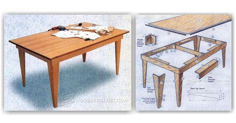 shop table plans woodarchivist