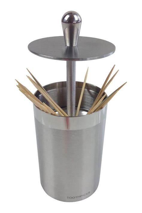 tooth pick holders ghome2 stainless steel toothpick holder from minneapolis