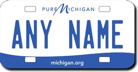 michigan replica state license plate for bikes bicycles