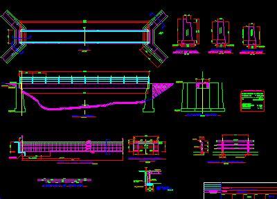 structures  peatonal bridge dwg section  autocad