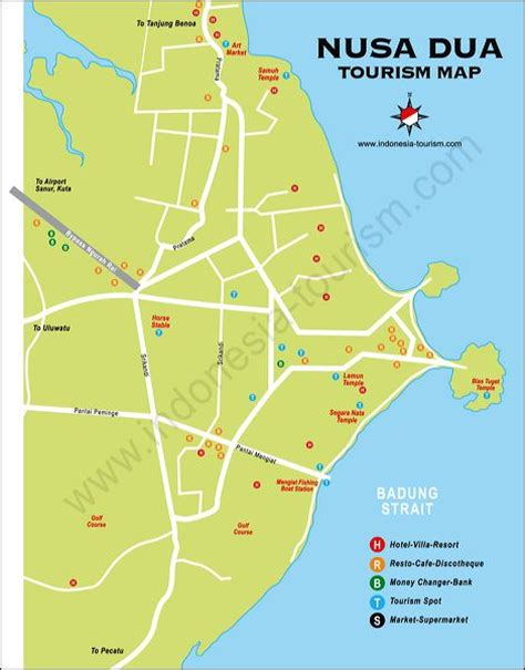 nusa dua bali map bali island indonesia tourism maps