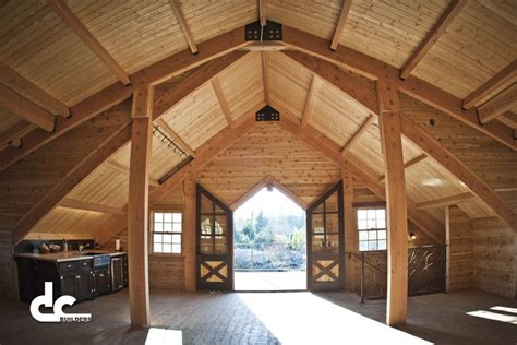 Timber Frame Garage With Living Quarters by Custom Timber Frame Barn With Living Quarters In