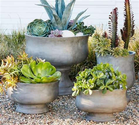 pottery barn planters artisanal planters pottery barn