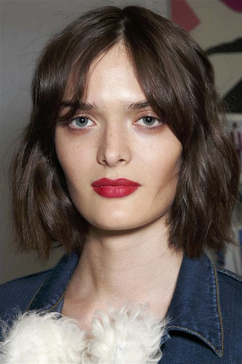 hairstyles with bangs and middle part 10 low maintenance lob length cuts we love lob haircut