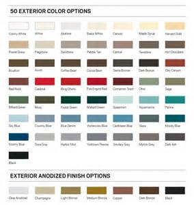 andersen window colors andersen architectural collection e series sell sheet pdf